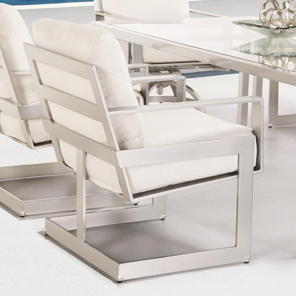 Eclipse Cushioned Dining Chair by Castelle by Pride Family Brands at Baer's Furniture