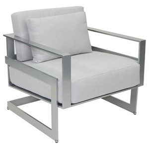 Cushioned Lounge Chair w/ One Pillow