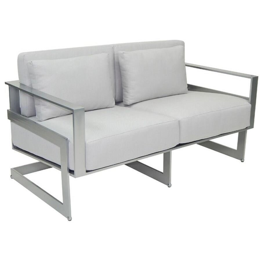 Eclipse Cushioned Loveseat w/ Two Pillows by Castelle by Pride Family Brands at Baer's Furniture
