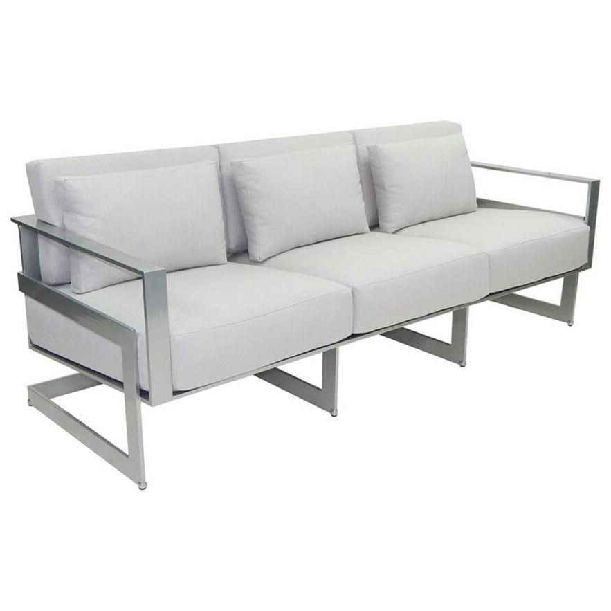 Eclipse Cushioned Sofa with Three Pillows by Castelle by Pride Family Brands at Baer's Furniture