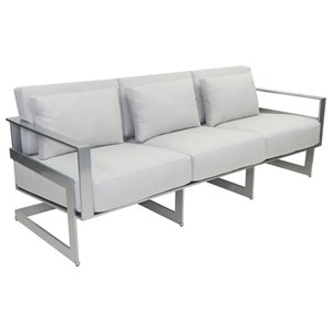 Cushioned Sofa with Three Pillows