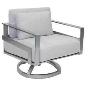 Cushioned Lounge Swivel Rocker w/ One Pillow