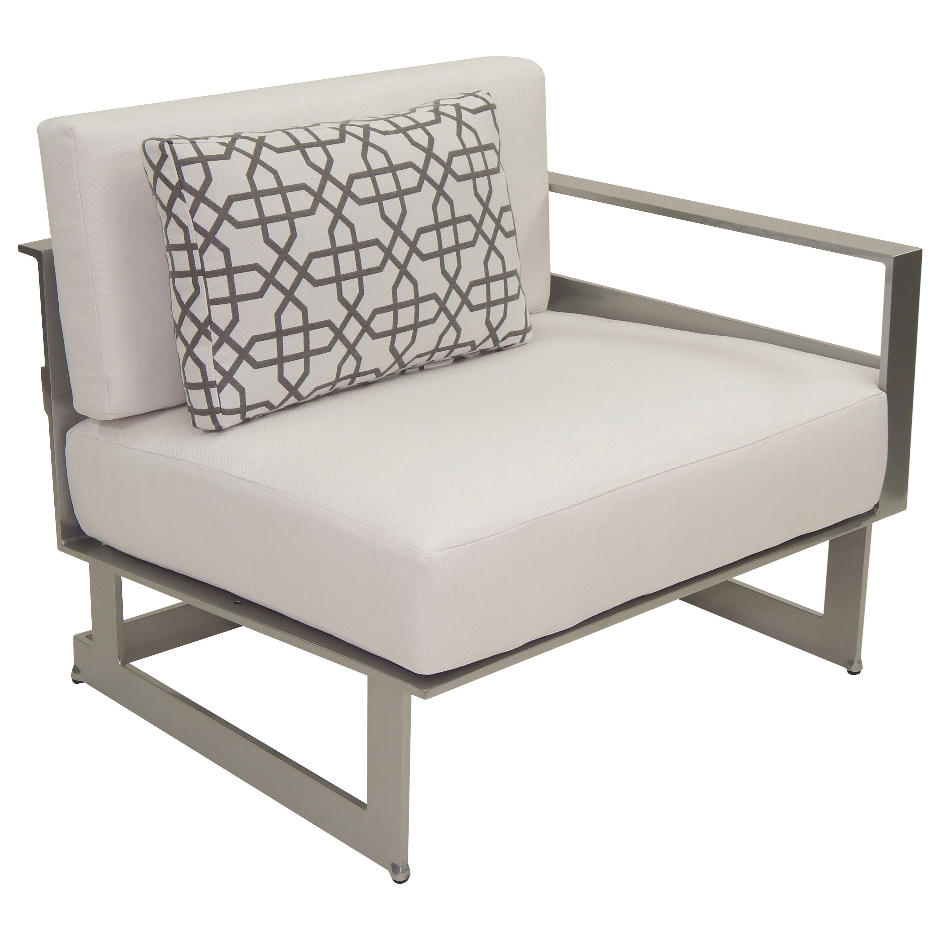 Eclipse Sectional Left Arm Lounge Unit w/ One Pillow by Castelle by Pride Family Brands at Baer's Furniture