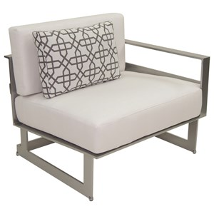 Sectional Left Arm Lounge Unit w/ One Pillow