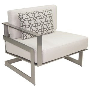 Sectional Right Arm Lounge Unit w/ One Pillow