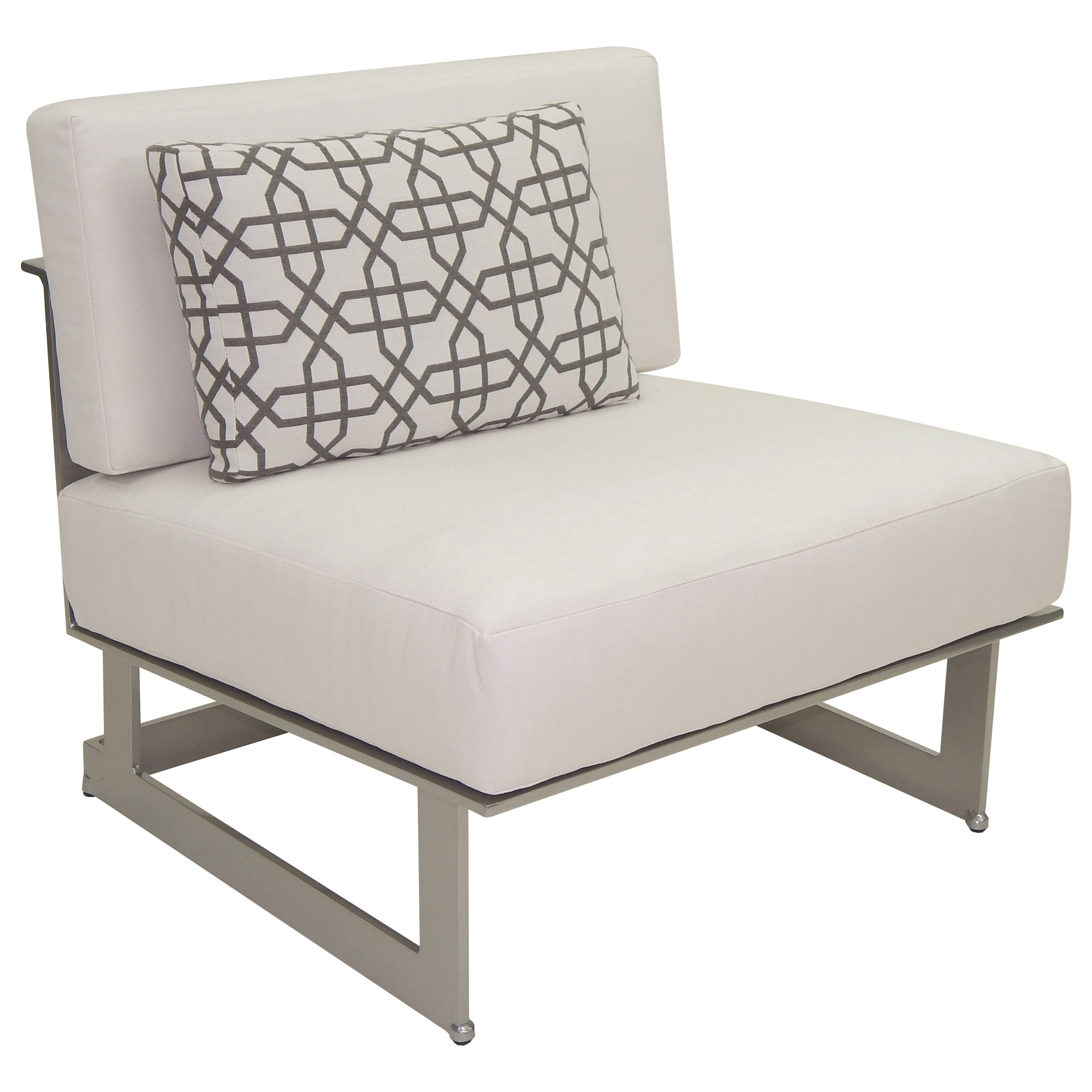 Eclipse Sectional Armless Lounge Unit w/ One Pillow by Castelle by Pride Family Brands at Baer's Furniture