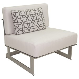 Sectional Armless Lounge Unit w/ One Pillow
