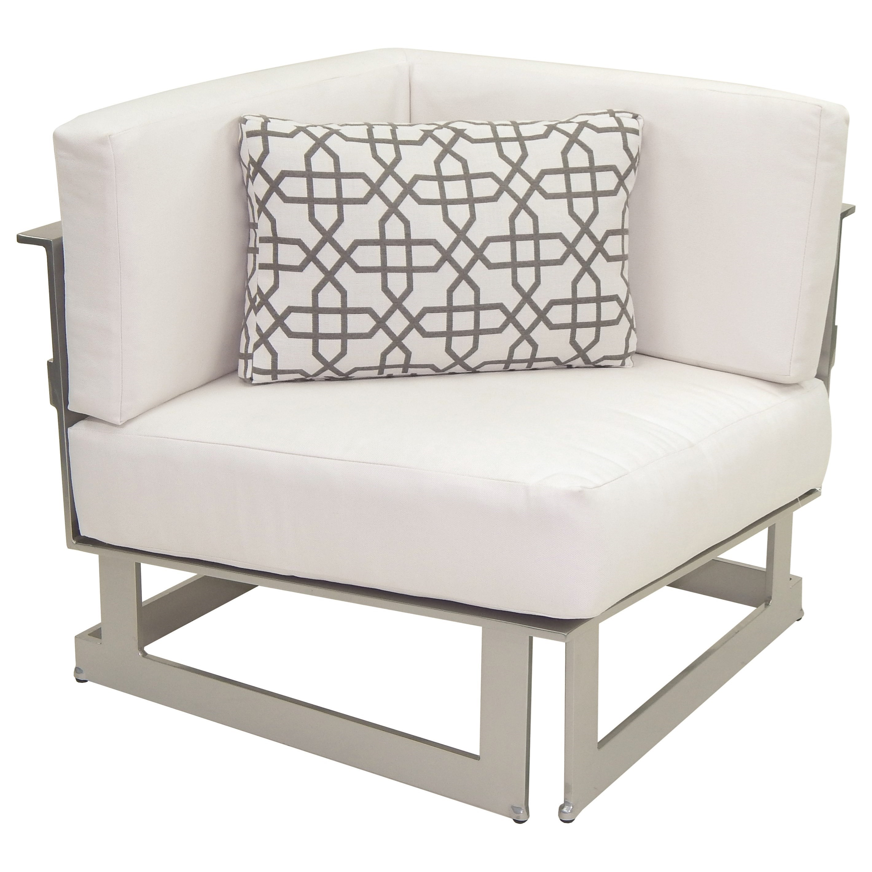 Eclipse Sectional Square Corner Unit w/ One Pillow by Castelle by Pride Family Brands at Baer's Furniture