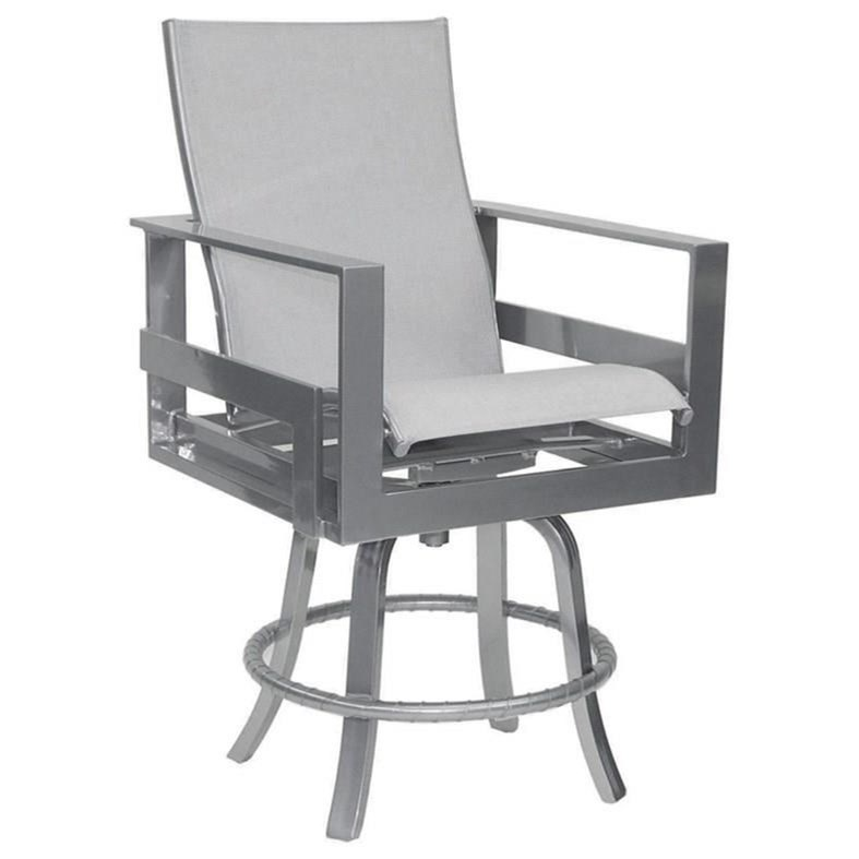 Eclipse High Back Sling Swivel Counter Stool by Castelle by Pride Family Brands at Baer's Furniture