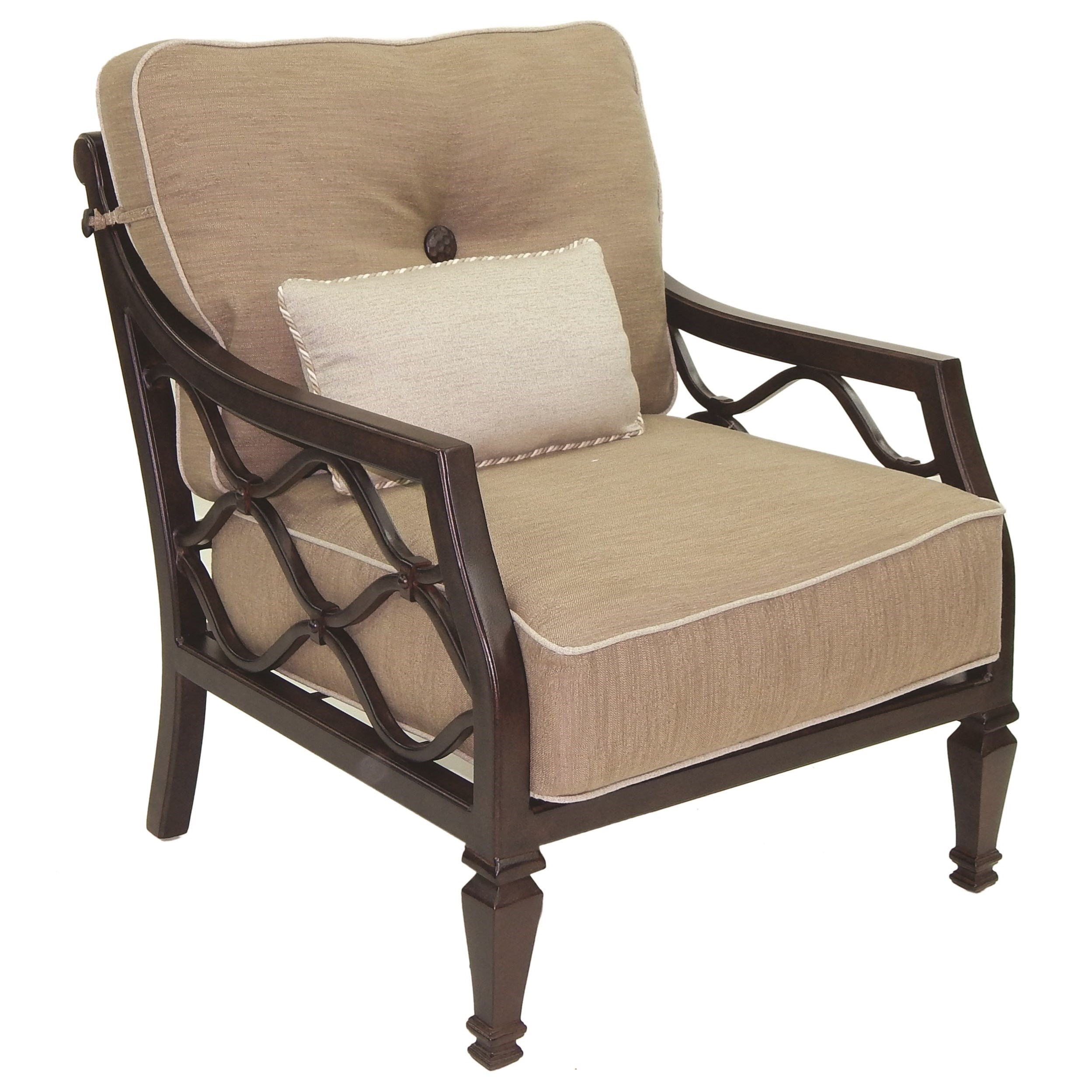 Villa Bianca Cushioned Lounge Chair w/ One Kidney Pillow by Castelle by Pride Family Brands at Baer's Furniture