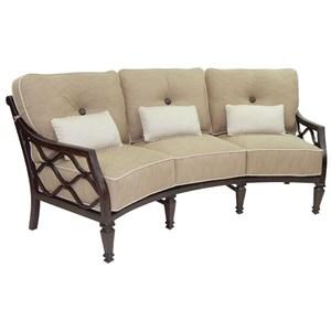 Cushioned Crescent Sofa w/ Three Kidney Pillows