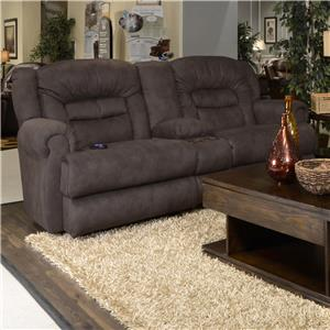 Power Reclining Loveseat with Storage Console and Cupholders