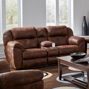 Pwr Headrest Lay-Flat Reclining Console Sofa