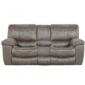 Charcoal Reclining Console Loveseat