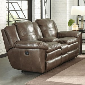 Lay Flat Reclining Loveseat with Console
