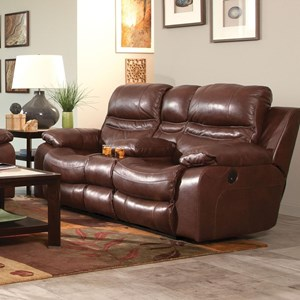 Lay Flat Reclining Loveseat with Storage Console and Cupholders