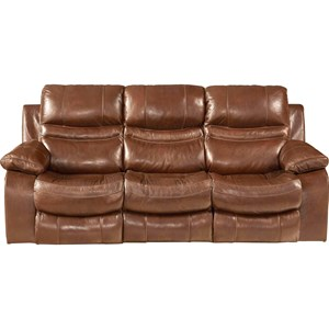 Power Lay Flat Reclining Sofa with Pillow Arms
