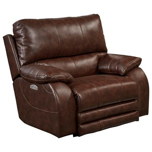 Casual Power Lay-Flat Recliner with Comfort Control Panel Technology