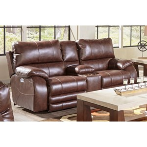 Reclining Loveseat With Power Headrest and Power Lay Flat