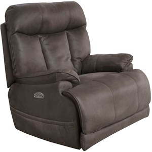 Casual Power Lay Flat Recliner with Power Headrest and Lumbar