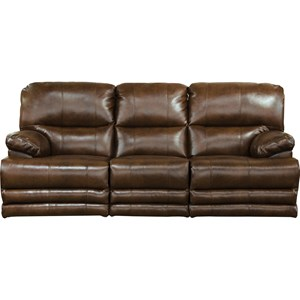 Casual Lay Flat Reclining Sofa with Built-In Storage