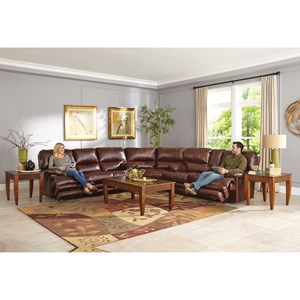 Casual Power Reclining Sectional with Storage