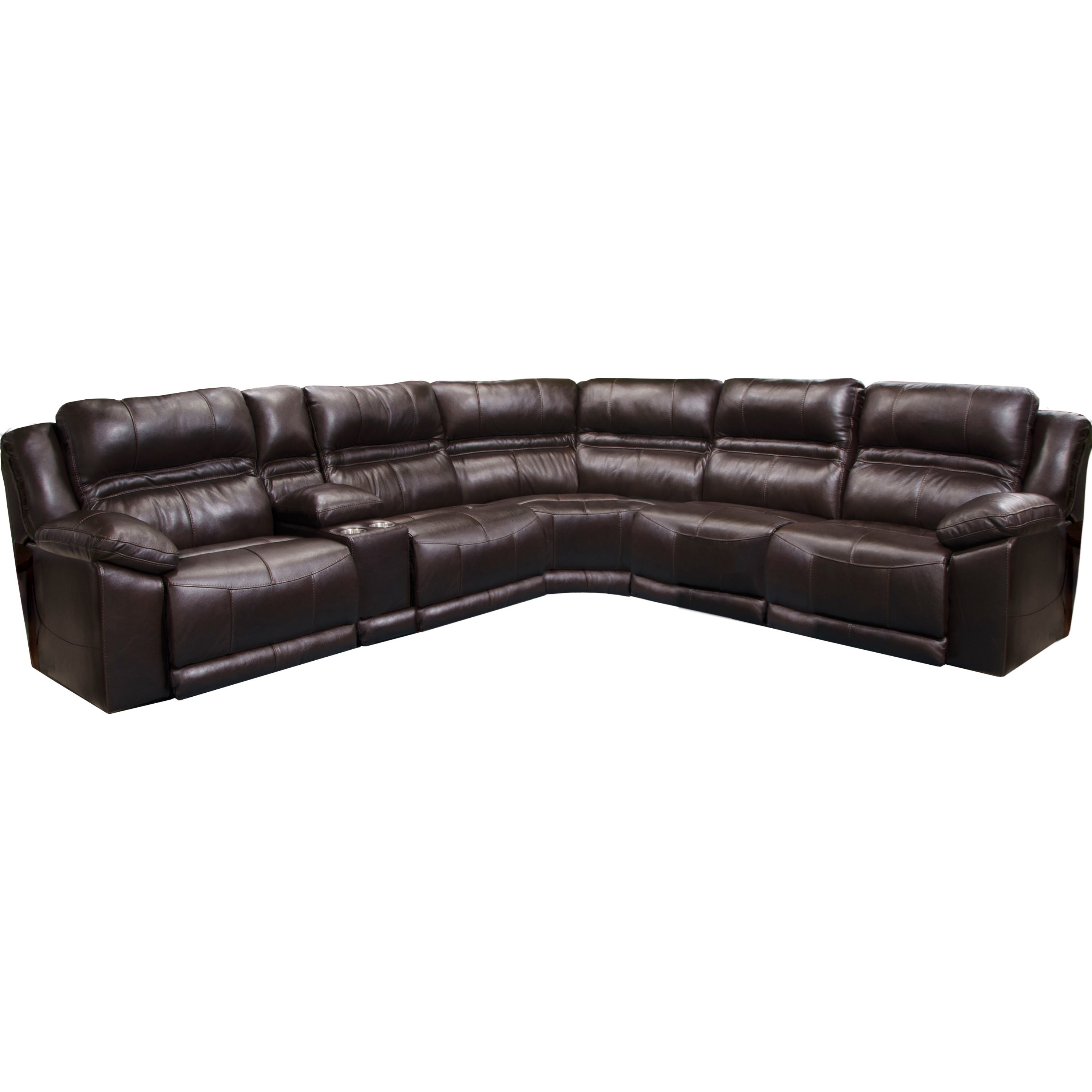 Bergamo Five Piece Power Reclining Sectional Sofa by Catnapper at Zak's Warehouse Clearance Center