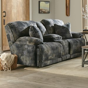 Reclining Console Loveseat with Storage and Cupholders