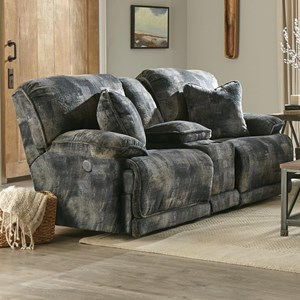 Power Reclining Console Loveseat with Storage and Cupholders