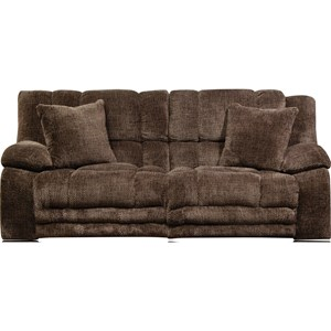 Lay Flat Reclining Sofa with Extended Ottoman