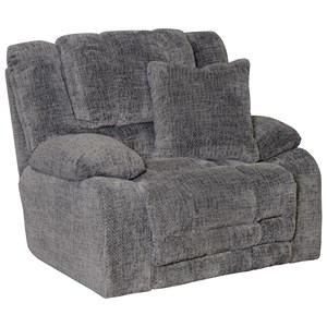 Power Lay Flat Recliner with Extended Ottoman