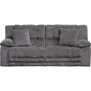 Power Lay Flat Reclining Sofa with Extended Ottoman