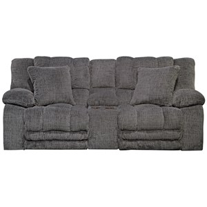 Power Lay Flat Reclining Loveseat with Storage and Cup Holders