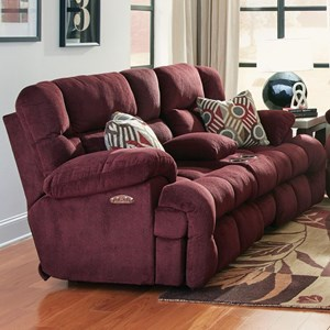 Lay Flat Reclining Loveseat with Power Headrest, Cupholders, and Storage