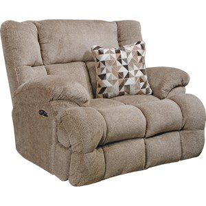 Lay Flat Recliner with Power Headrest and Power Lumbar Support