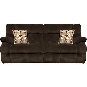 Lay Flat Reclining Sofa with Power Headrest and Power Lumbar Support