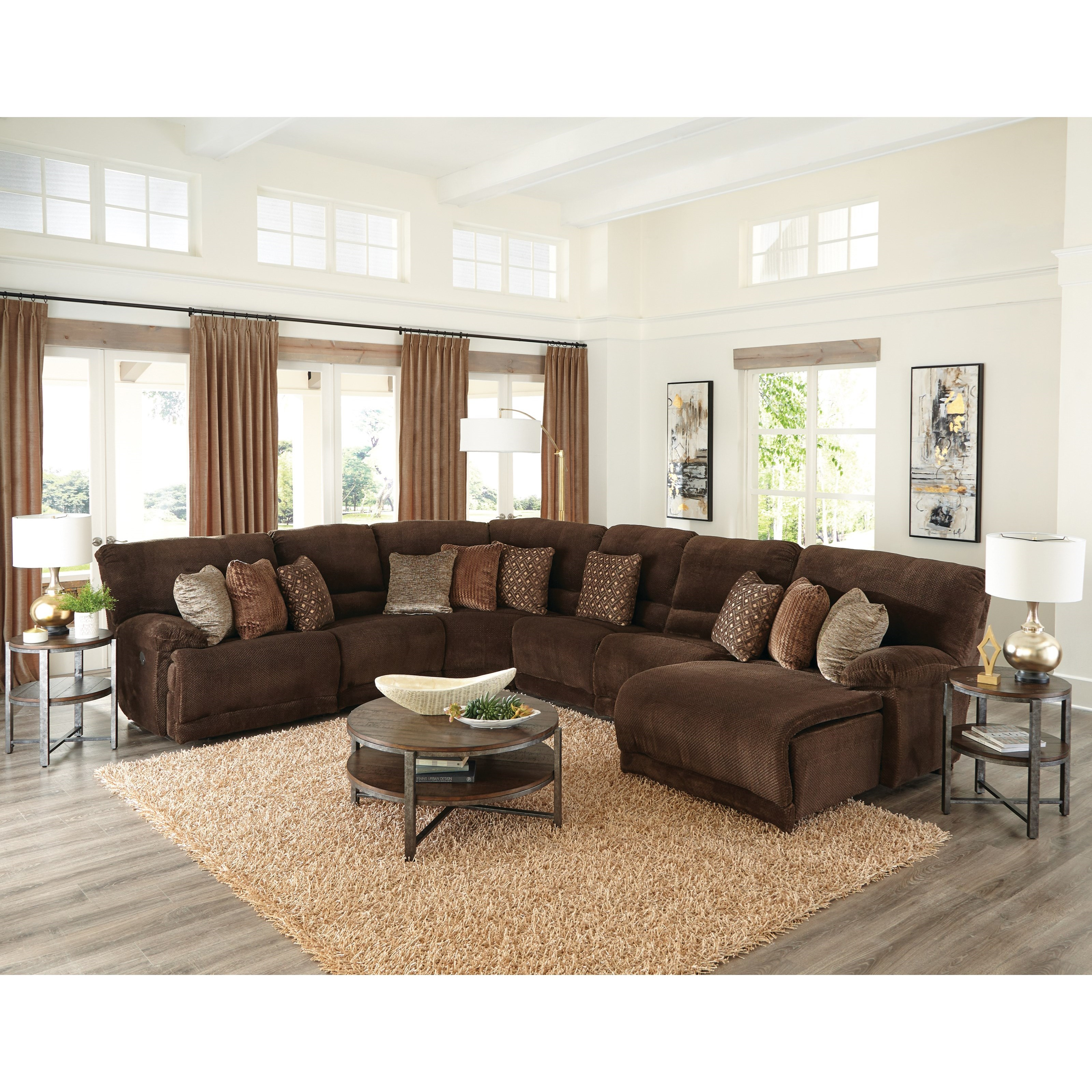 Burbank Power Reclining Sectional by Catnapper at Northeast Factory Direct