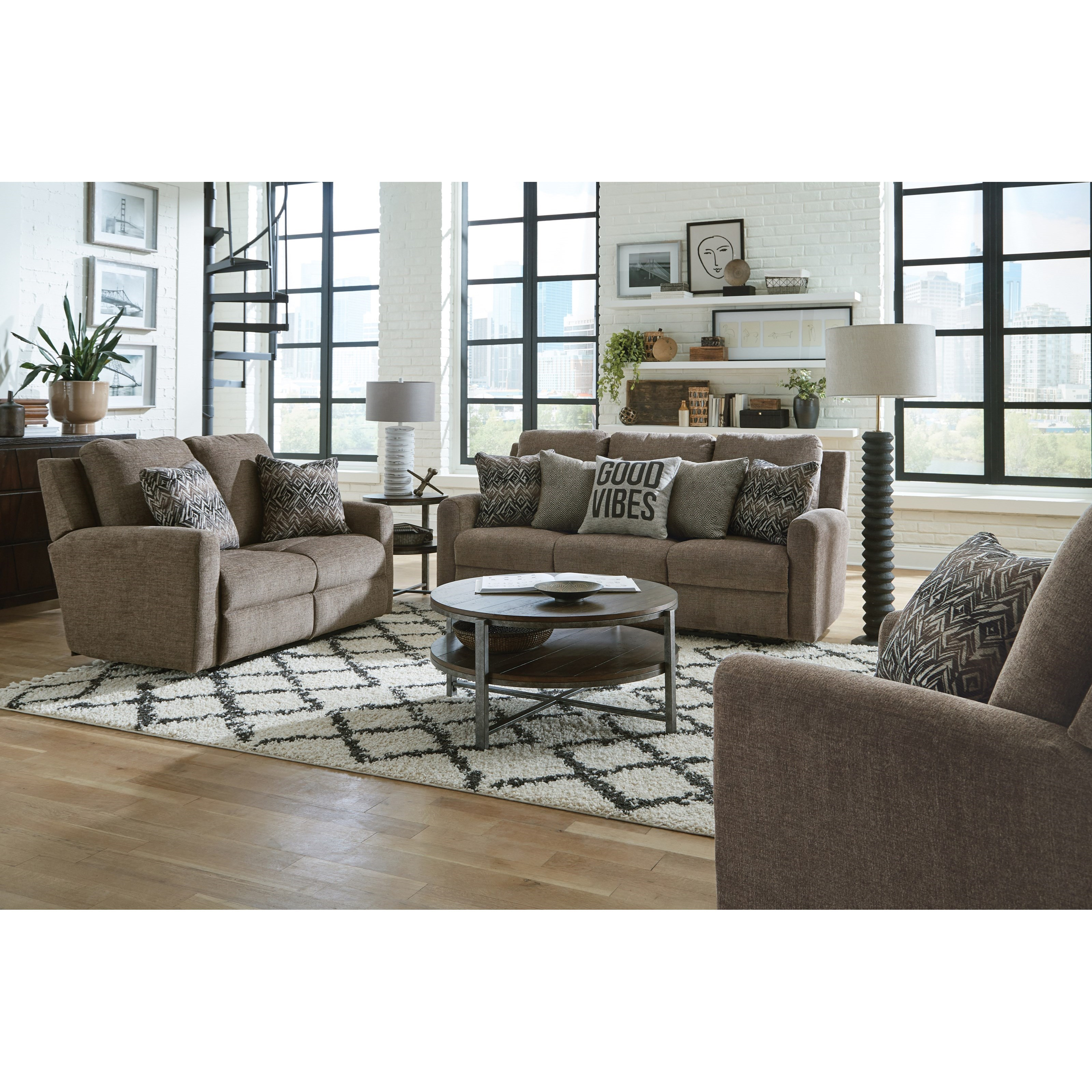Calvin Reclining Living Room Group by Catnapper at Northeast Factory Direct