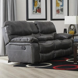 Reclining Gliding Console Loveseat with Cup Holders