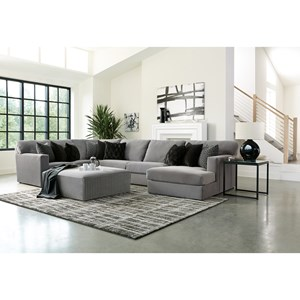 Contemporary Sectional with Right-Facing Chaise