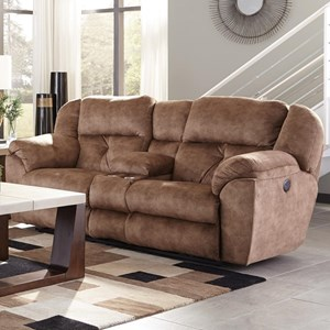 Lay Flat Reclining Console Loveseat with Storage and Cupholders