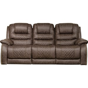 Power Lay Flat Reclining Sofa with Built-In USB Ports