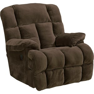 Power Lay Flat Chaise Recliner with Large Comfort Tufts