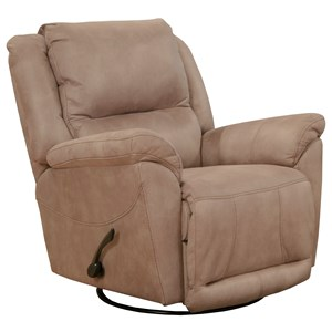 Swivel Glider Recliner with Pillow Arms