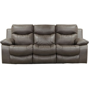 Casual Lay Flat Power Reclining Sofa with Power Headrest