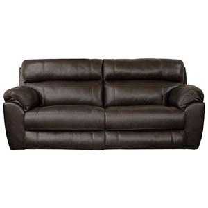 Leather Match Lay Flat Reclining Sofa