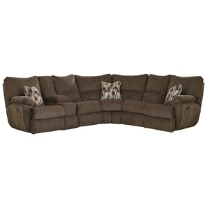 Power Lay Flat Sectional Sofa with Storage Console