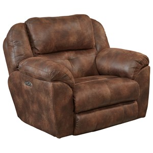 Power Headrest Lay Flat Recliner with Lumbar