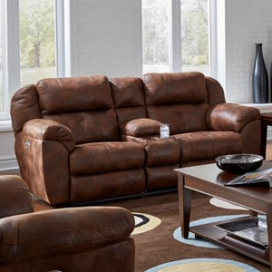 Power Headrest Lay Flat Reclining Loveseat