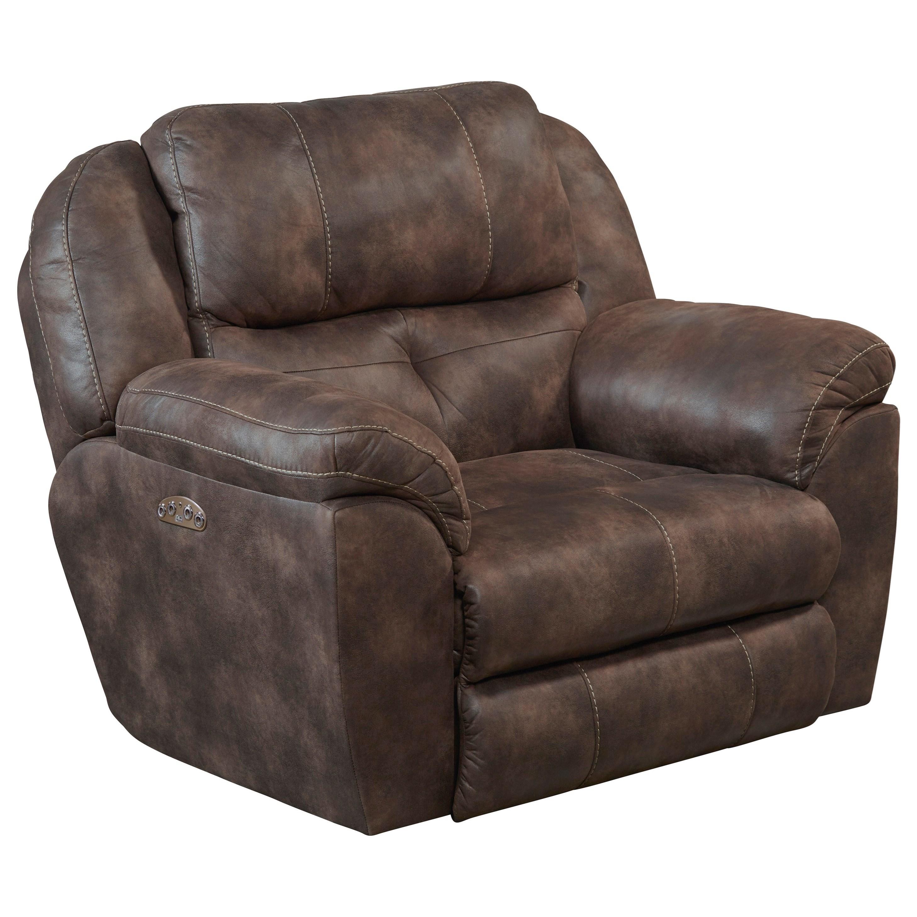 Ferrington Power Headrest Lay Flat Recliner w/ Lumbar by Catnapper at Gill Brothers Furniture